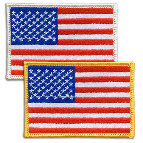 LEFT Sleeve or BACK American Flag - Unattach