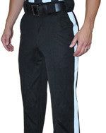 "Smitty 4-Way Stretch Black Pants with 1 1/4"" White Stripe"