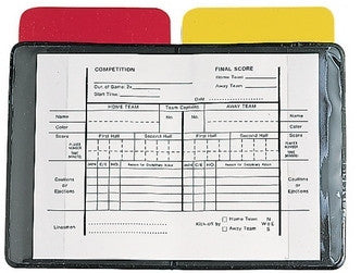 Referee Red and Yellow Warning Cards and Holder