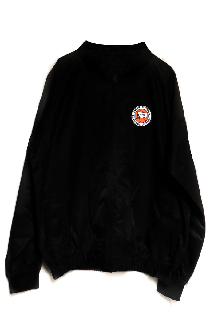 Smitty Black Jacket with Full Front Zipper w/CT BOARD 9 IAABO LOGO