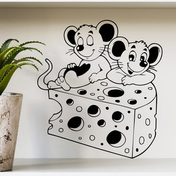 Cheese and Mouse Removable Vinyl Wall Sticker