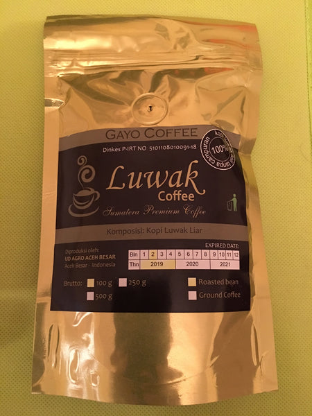 Gayo Kopi Luwak 100g roasted