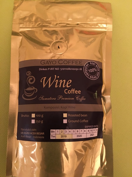 Gayo Wine Coffee 100g roasted