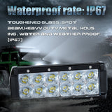 Nilight 36W Dual Mounting LED Spot Light Bar IP67 Waterproof