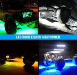 Nilight RGB LED 4 Rock Light Pods with Bluetooth Controller kit