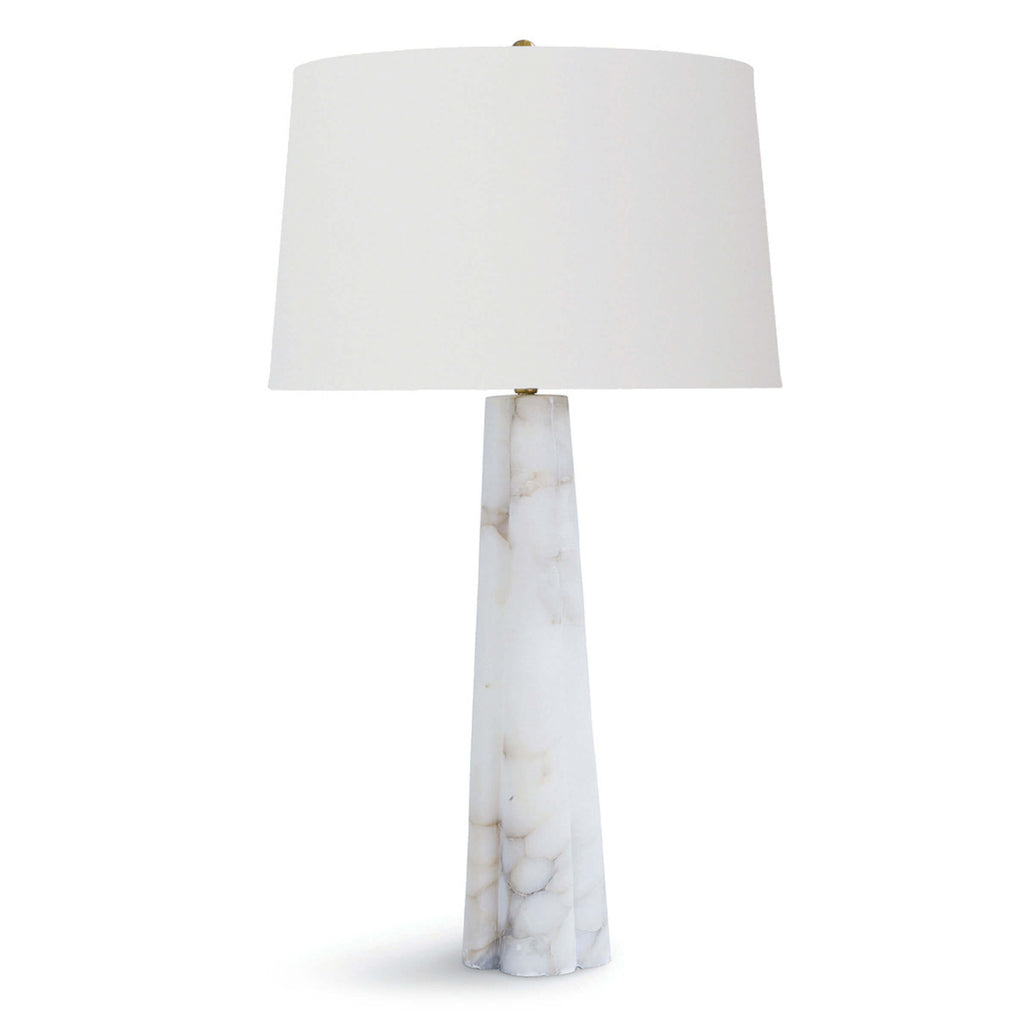 Quatrefoil Alabaster Table Lamp Large by Regina Andrew Item 13-1038