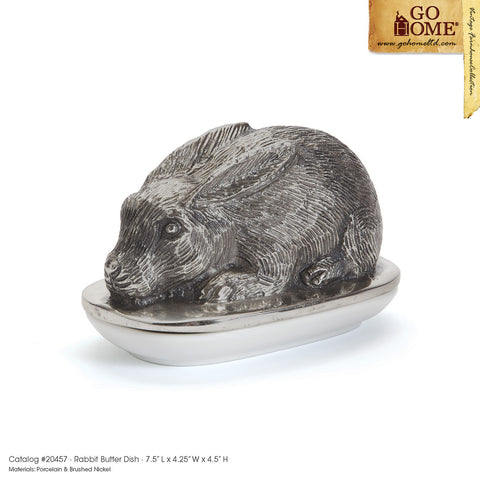 Rabbit Butter Dish by Go Home