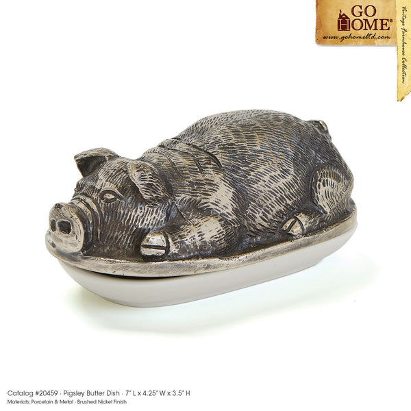 Pigsley Butter Dish by Go Home