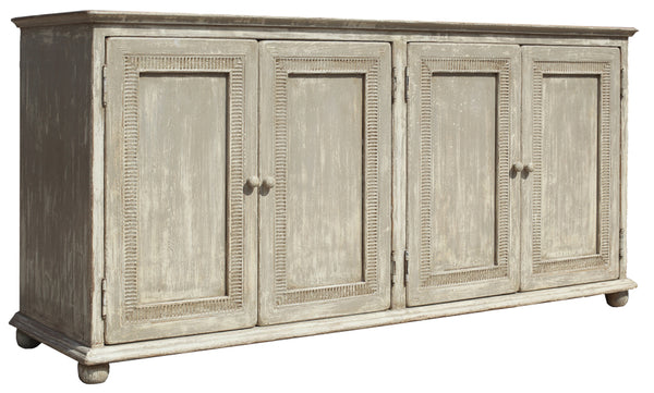 Pie Crust Door Cabinet by Sarreid