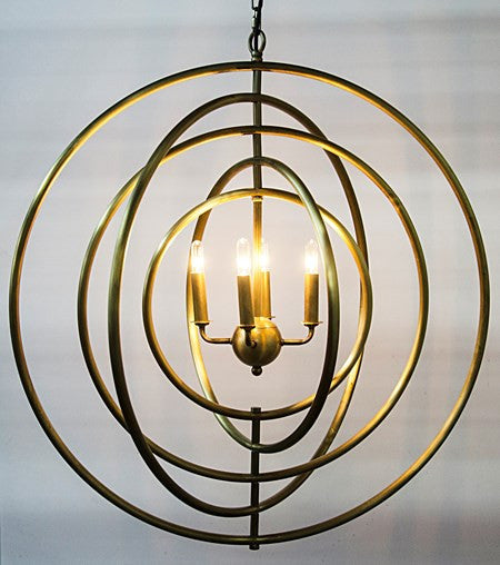 Noir Brooks Pendant Brass Finish