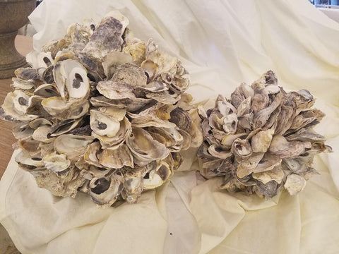 Oyster Shell Ball Set of 2 by Two's Company