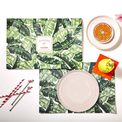 Palm Print Place Mats by Two's Company
