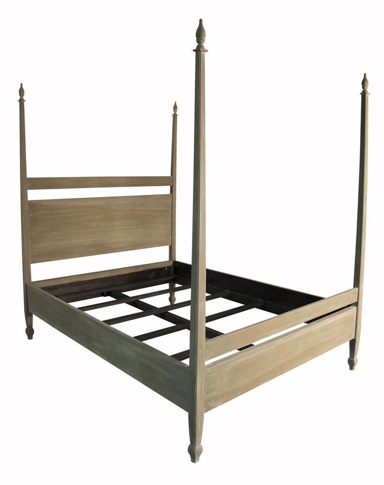 Noir Venice Bed Eastern King Weathered