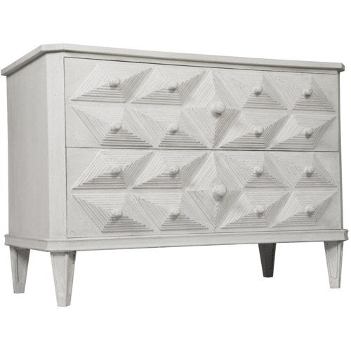 Giza Dresser by Noir Furniture White Weathered
