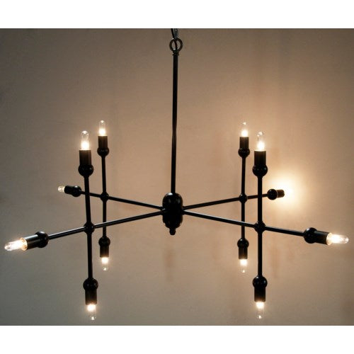 Crossover Pendant Black Metal by Noir Furniture