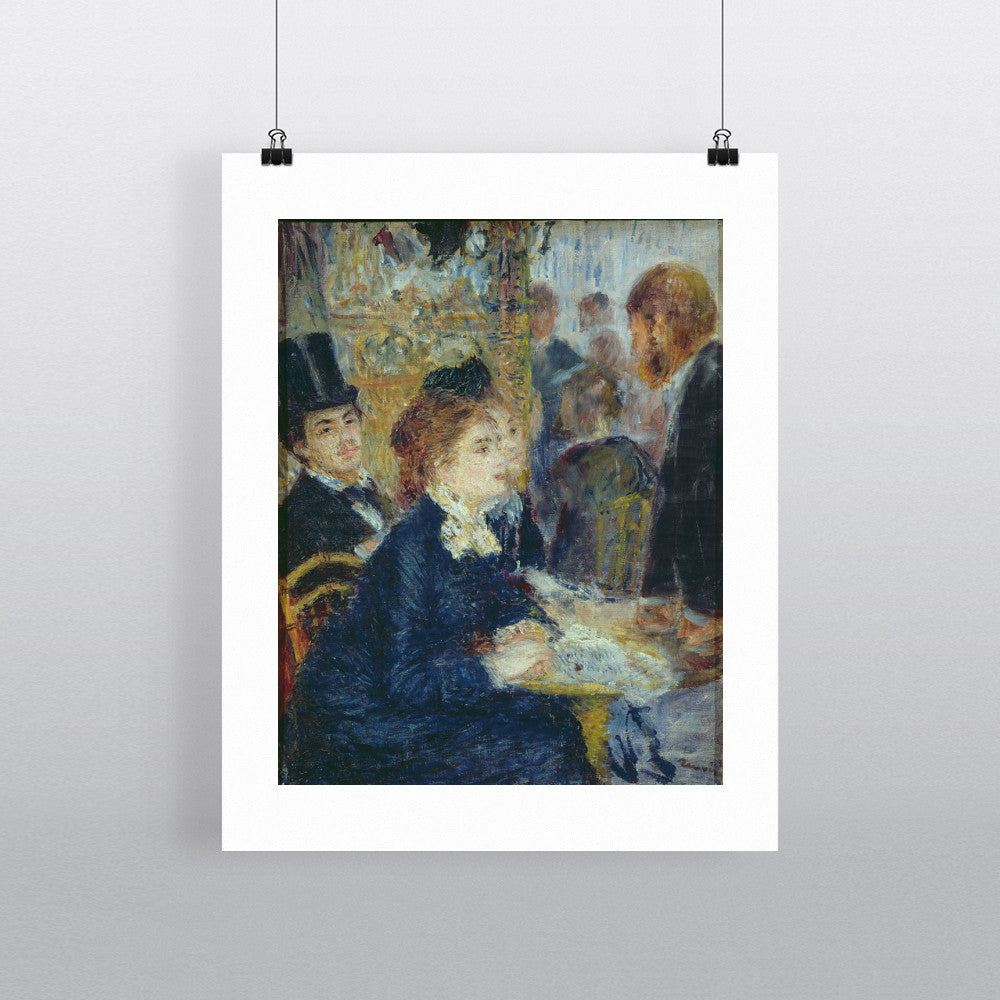 At the Cafe, c.1877 by Pierre Auguste Renoir 20cm x 20cm Mini Mounted Print