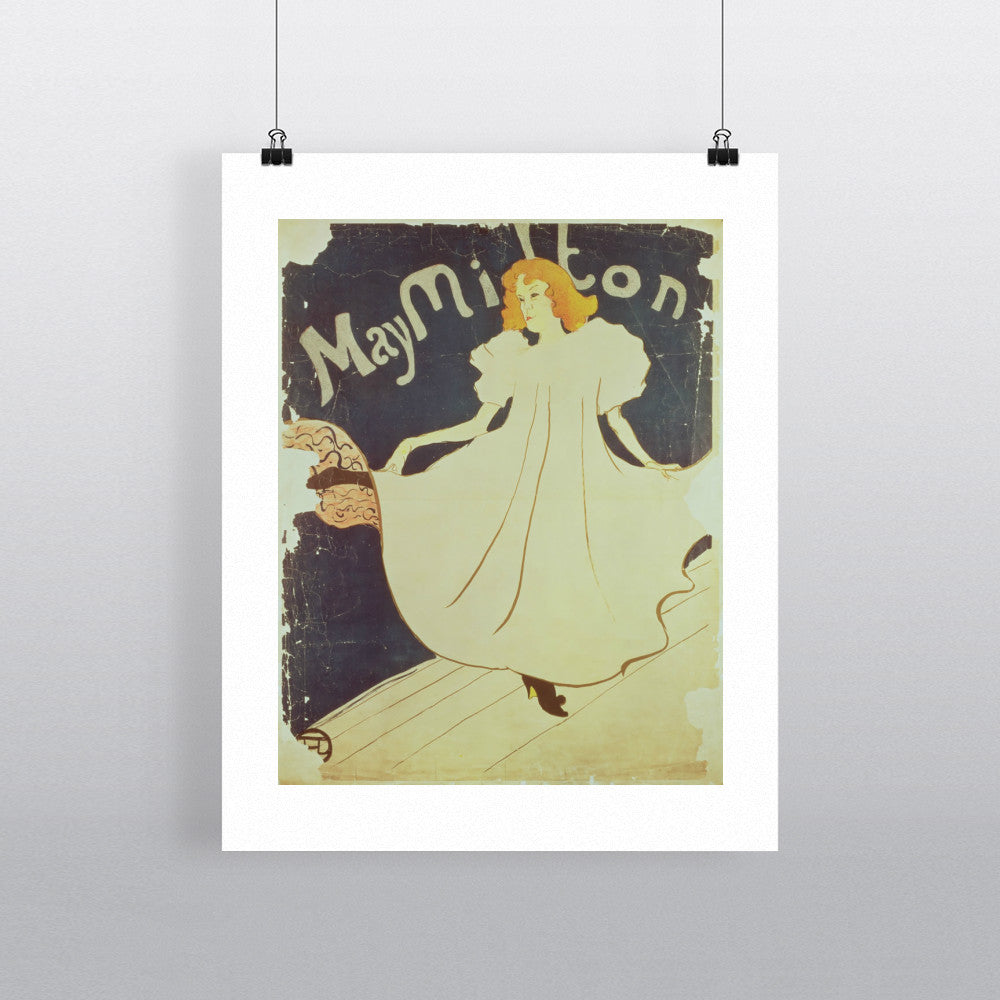 09:May Milton, France, 1895 by Henri de Toulouse-Lautrec 20cm x 20cm Mini Mounted Print
