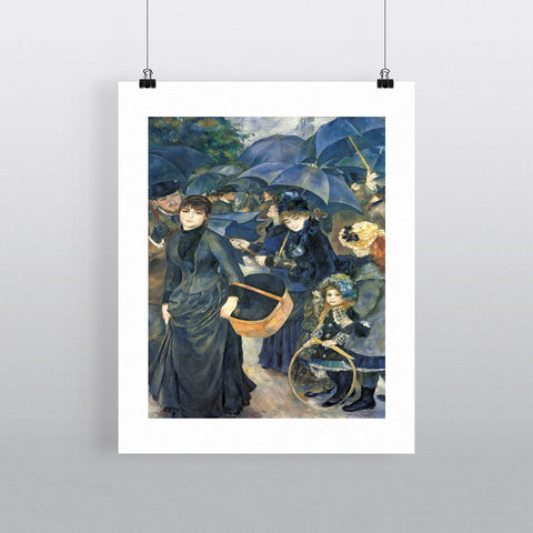 The Umbrellas, c.1881-6 (oil on canvas) by Pierre Auguste Renoir 20cm x 20cm Mini Mounted Print