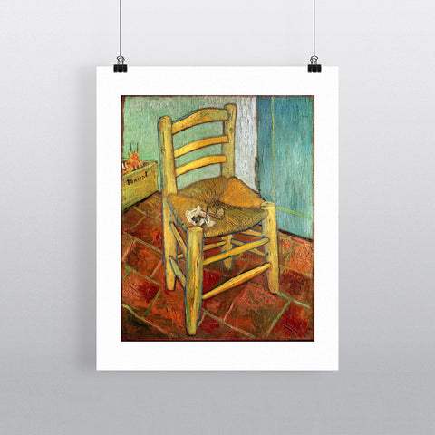 Vincent's Chair, 1888 (oil on canvas) by Vincent van Gogh 20cm x 20cm Mini Mounted Print