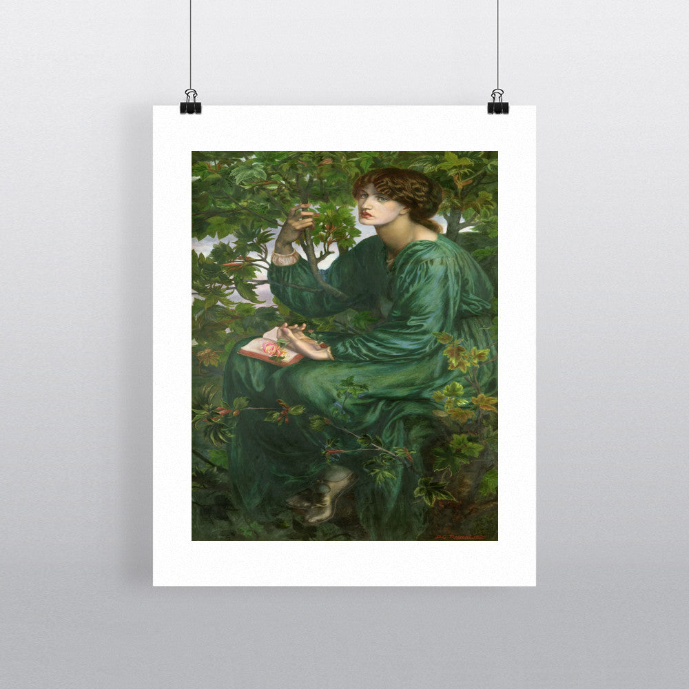 Day Dream, 1880 (oil on canvas) by Dante Charles Gabriel Rossetti 20cm x 20cm Mini Mounted Print