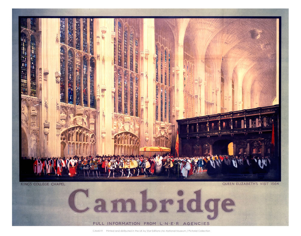"Queen Elizabeth's Visit to King's College 24"" x 32"" Matte Mounted Print"