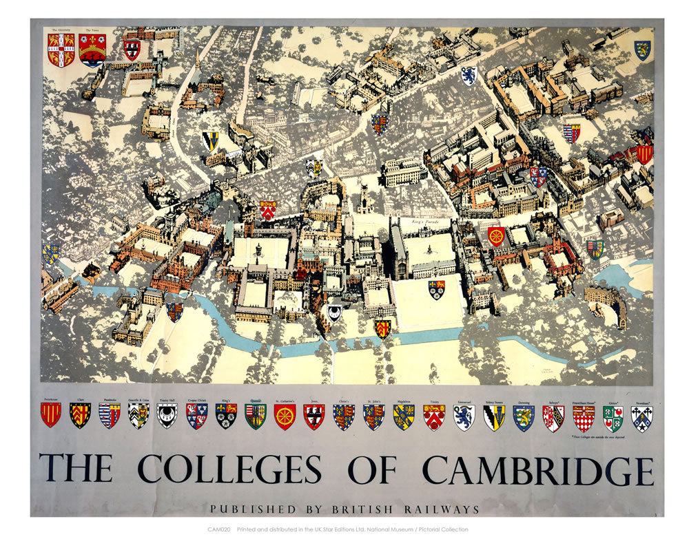 "The Colleges of Cambridge 24"" x 32"" Matte Mounted Print"