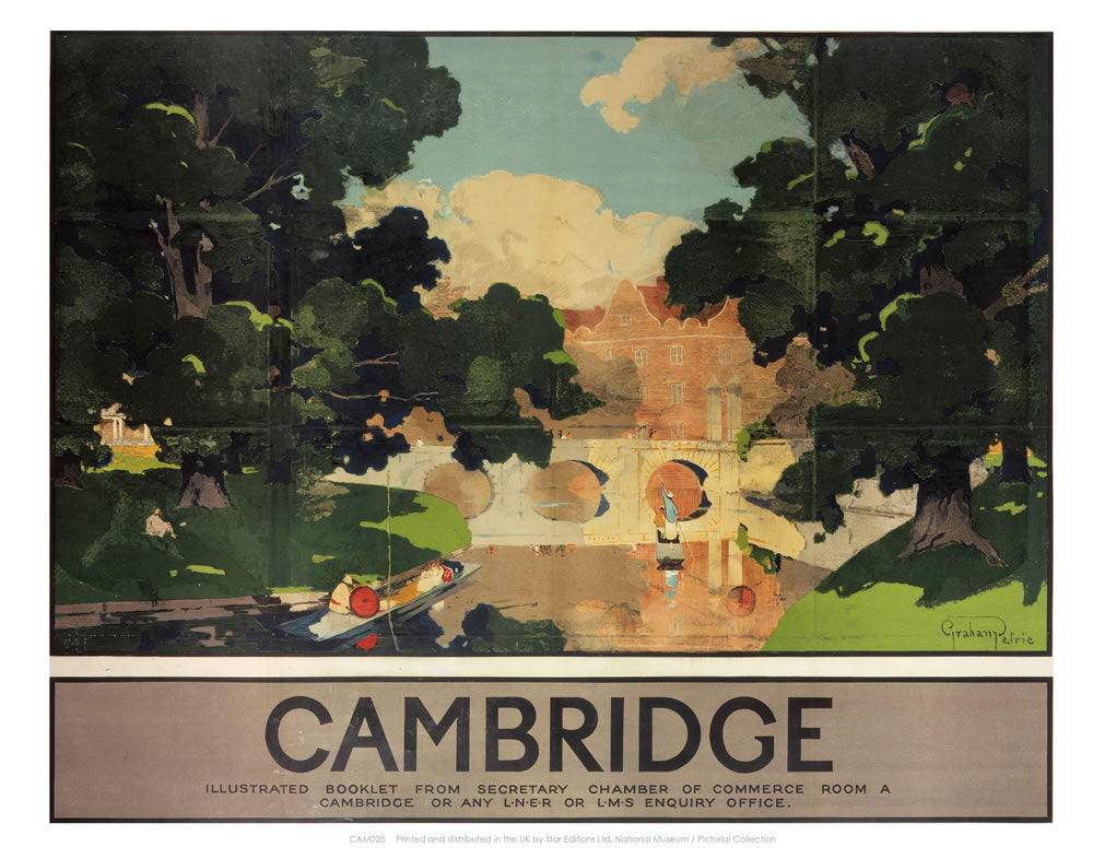 "Cambridge Illustrated Booklet 24"" x 32"" Matte Mounted Print"