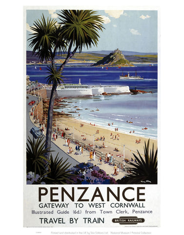 "Penzance Gateway to West Cornwall 24"" x 32"" Matte Mounted Print"