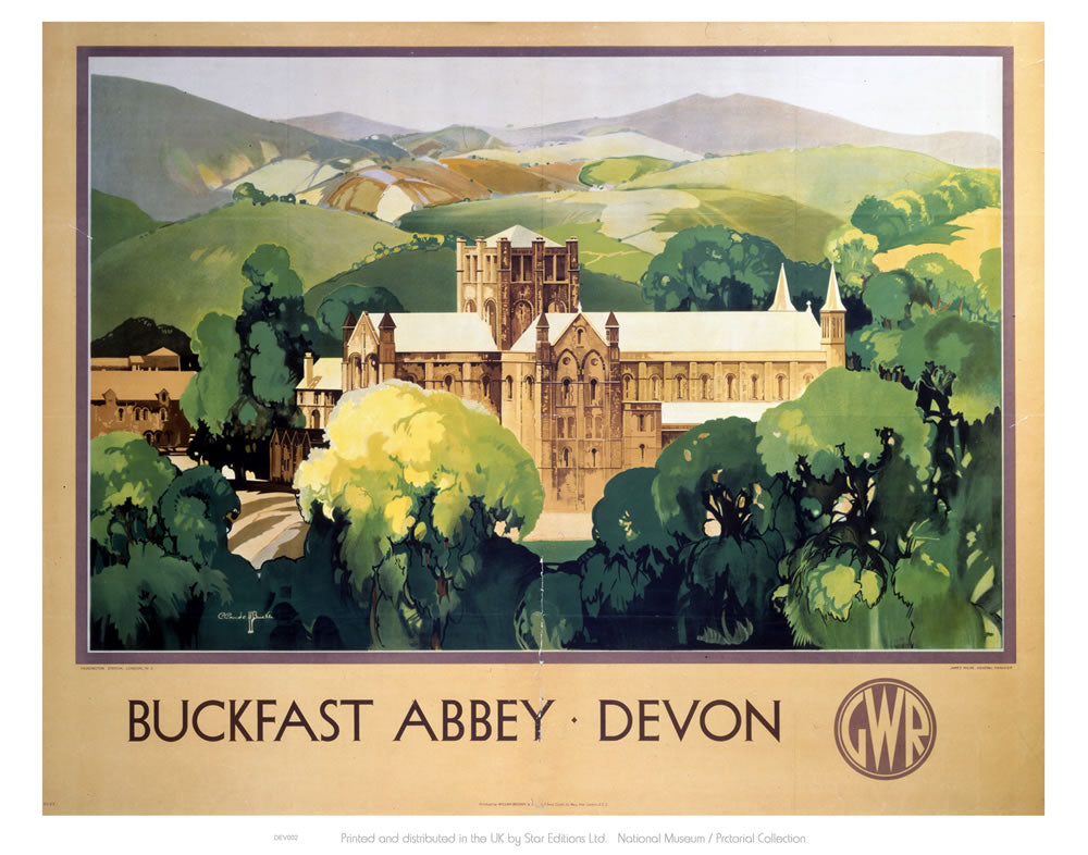 "Buckfast Abbey Devon 24"" x 32"" Matte Mounted Print"