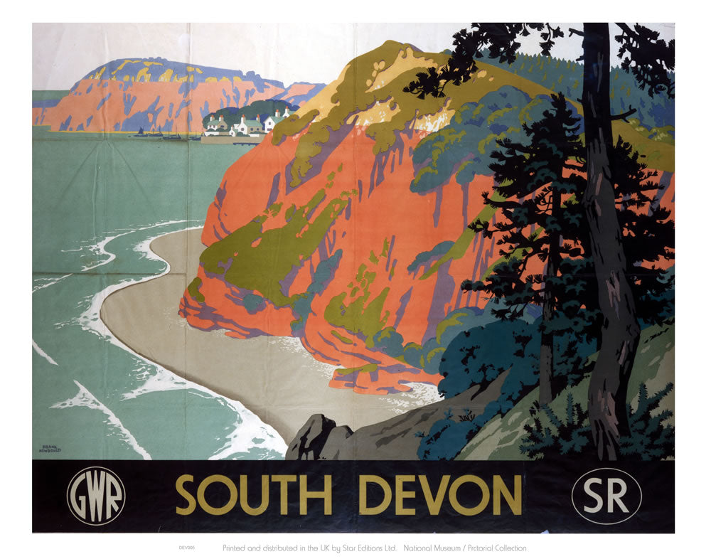 "South Devon GWR 24"" x 32"" Matte Mounted Print"