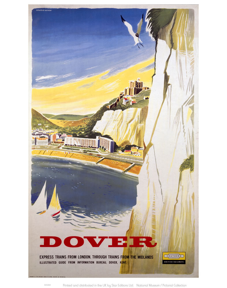 "Dover Cliff 24"" x 32"" Matte Mounted Print"