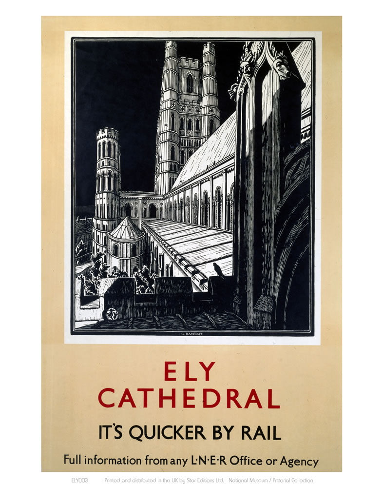 "Ely Cathedral Black and White 24"" x 32"" Matte Mounted Print"