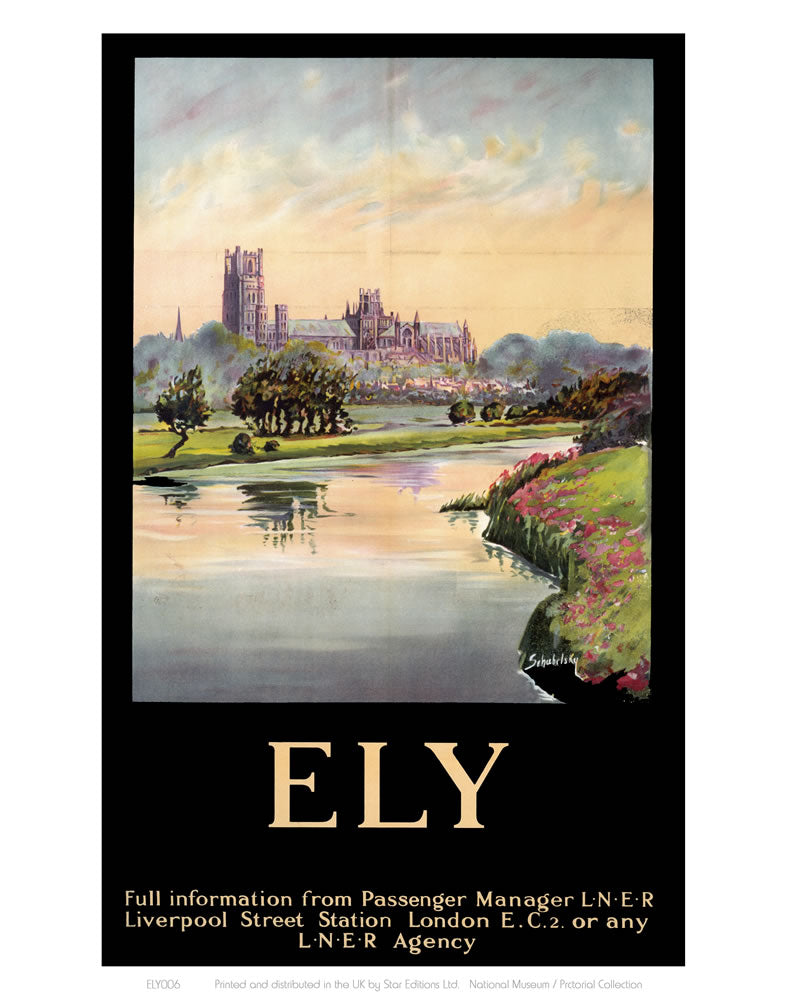 "Ely Cathedral Dark Frame 24"" x 32"" Matte Mounted Print"