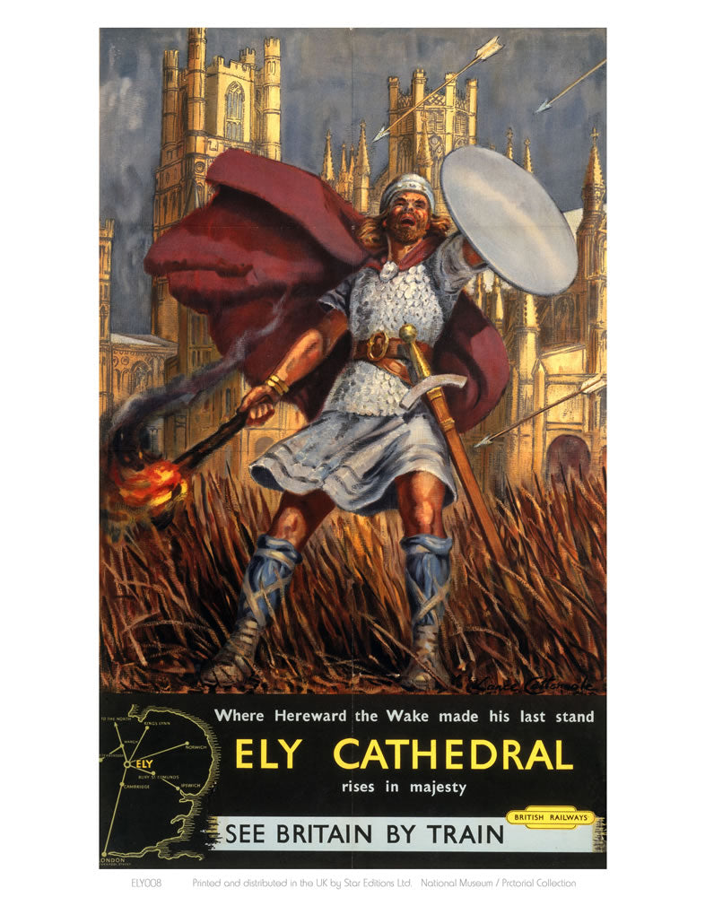 "Hereward the Wake Ely Cathedral 24"" x 32"" Matte Mounted Print"