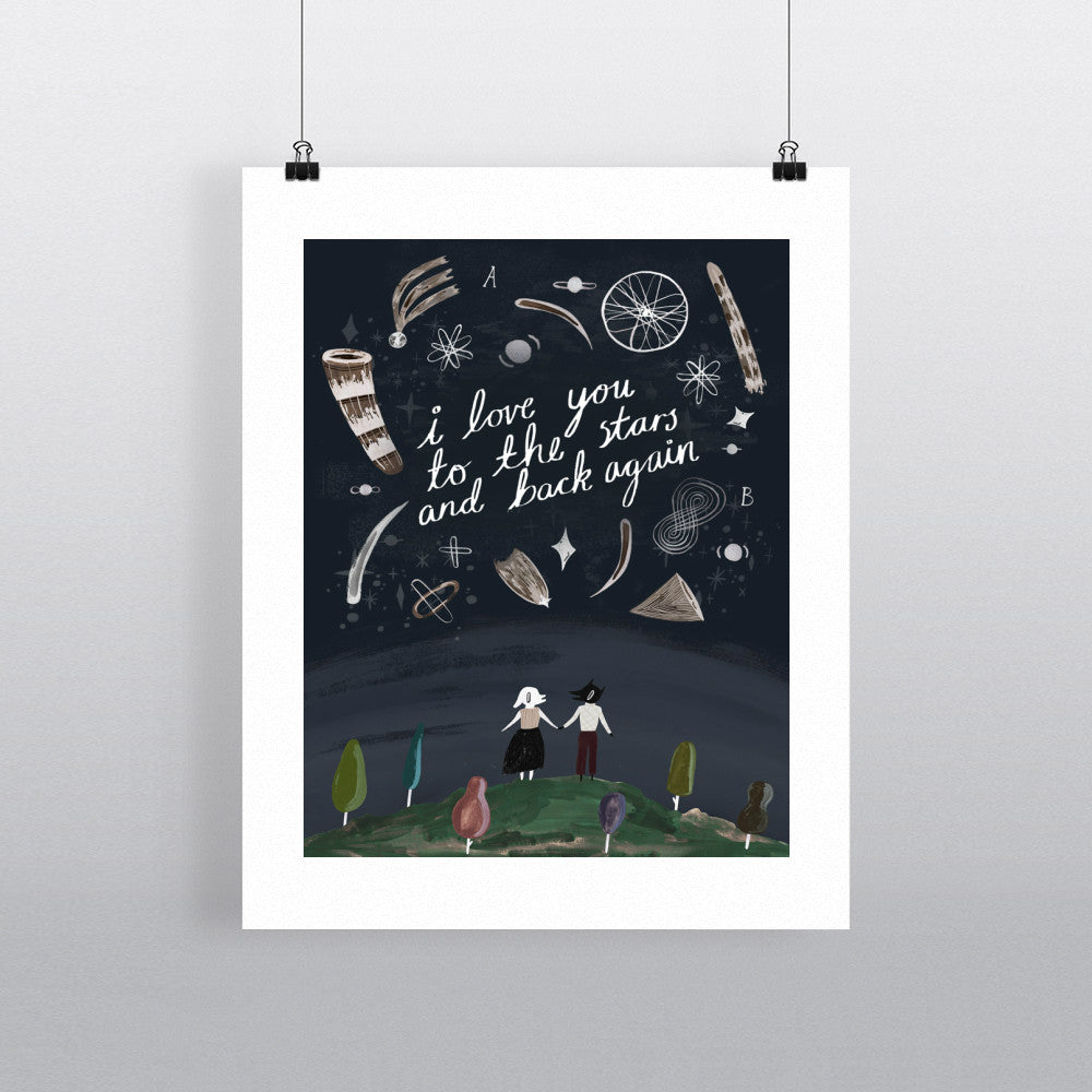I Love You To The Stars And Back Again 11x14 Print