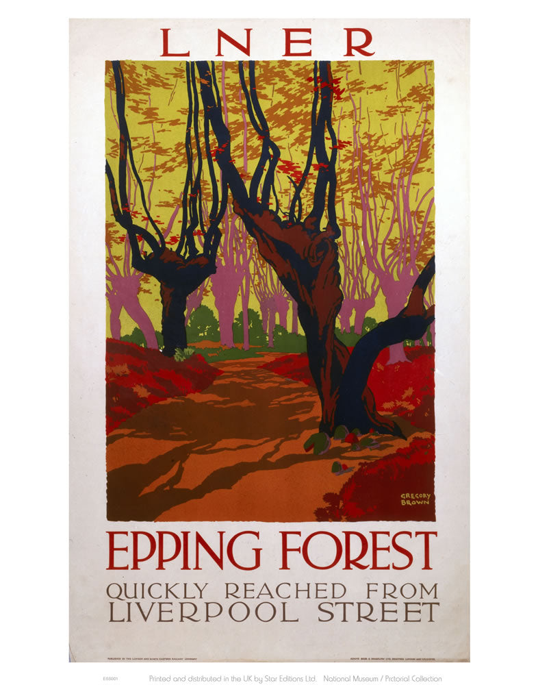 "Epping Forest Quickly Reached 24"" x 32"" Matte Mounted Print"