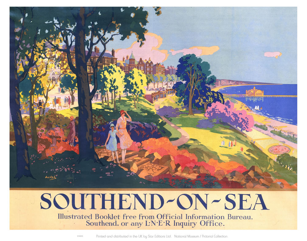 "Southend On Sea 24"" x 32"" Matte Mounted Print"