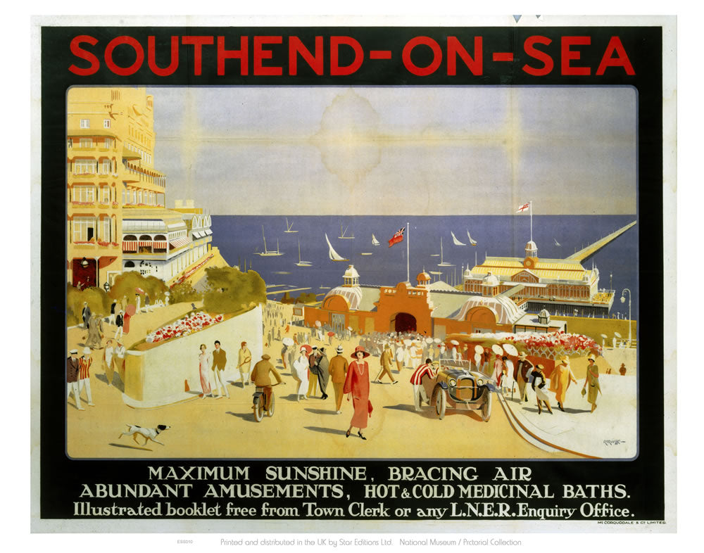 "Southend On Sea Maximum Sunshine 24"" x 32"" Matte Mounted Print"