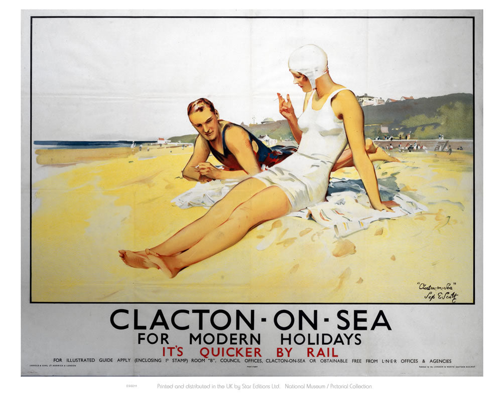 "Clacton On Sea for Modern Holidays 24"" x 32"" Matte Mounted Print"