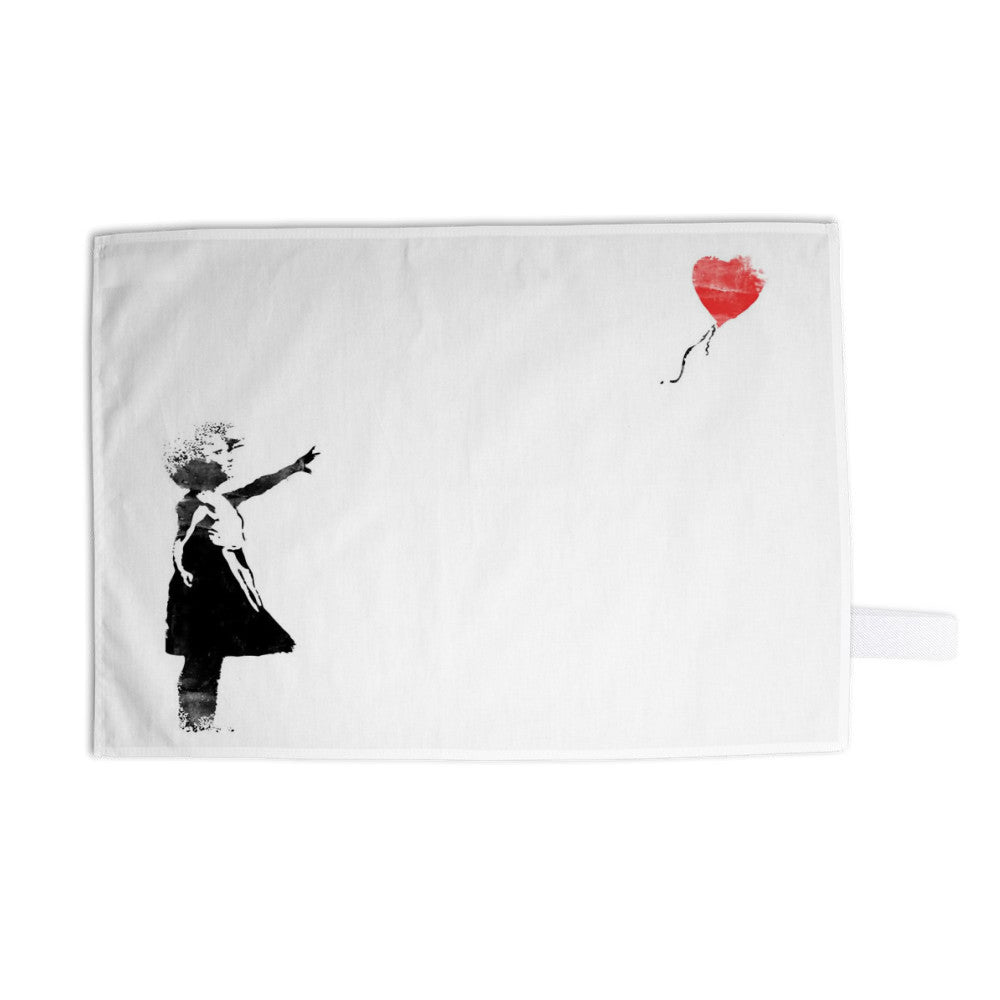 Heart Balloon Tea Towel