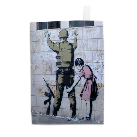 Soldier Searched by a Girl Tea Towel
