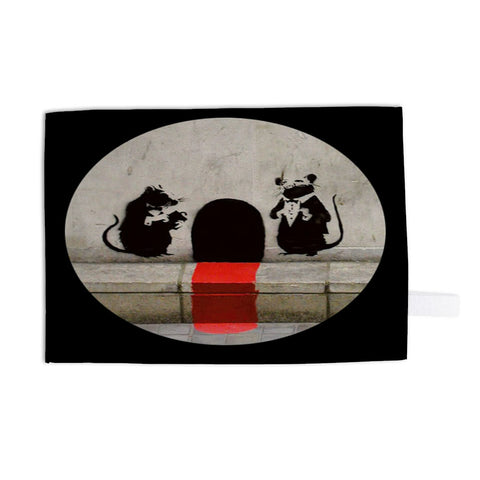 Red Carpet Rats Tea Towel