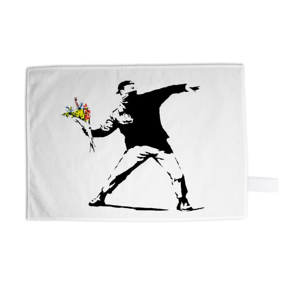 Flower Chucker Tea Towel