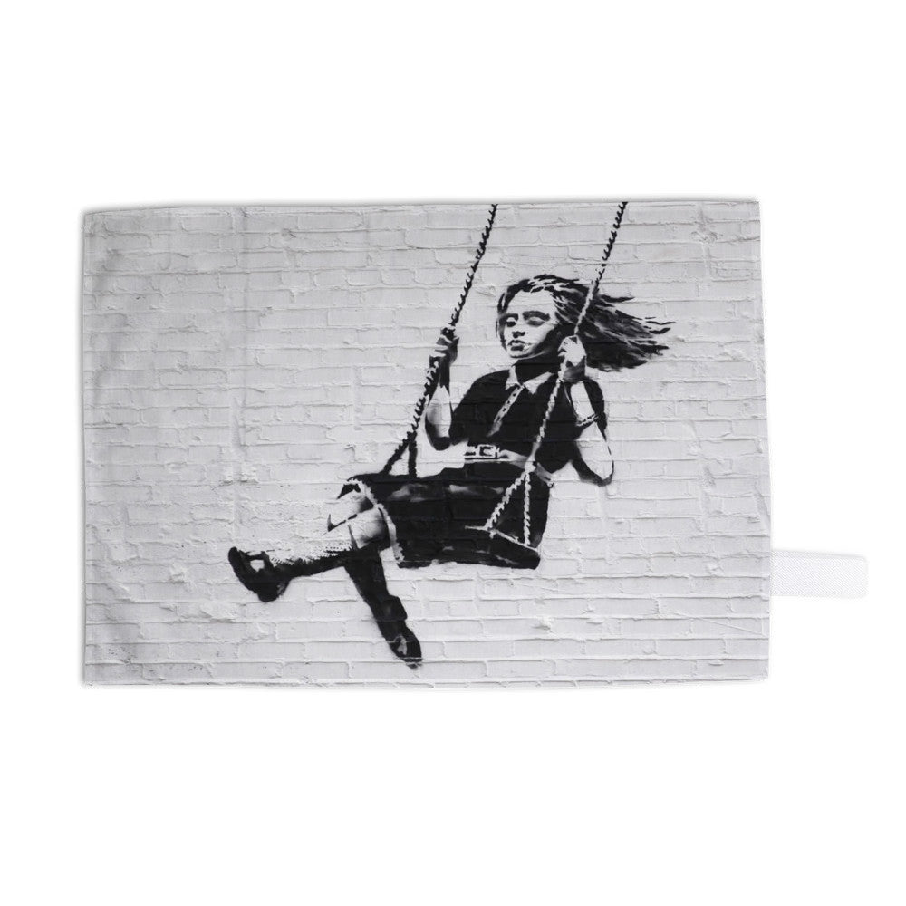 Girl on a Swing Tea Towel