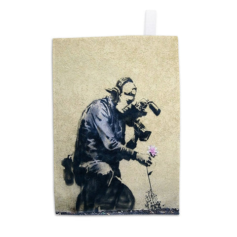 Photographer Flower Tea Towel