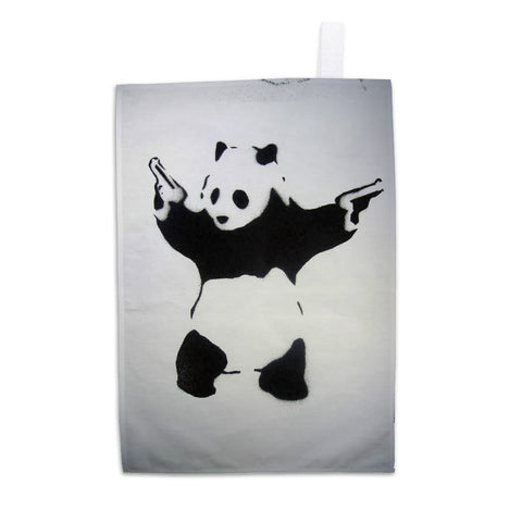 Pandamonium Tea Towel