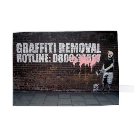 Graffiti Removal Tea Towel