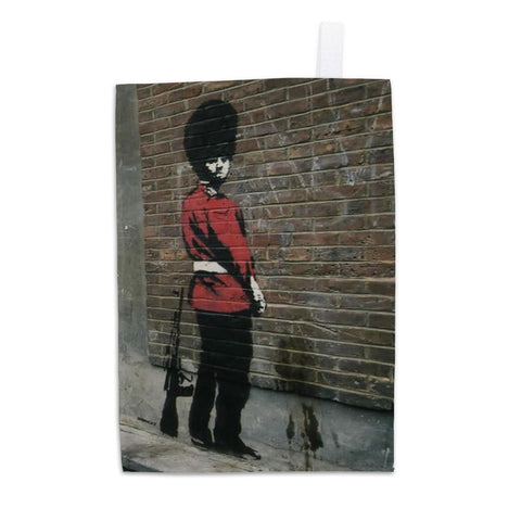Pissing Soldier Tea Towel