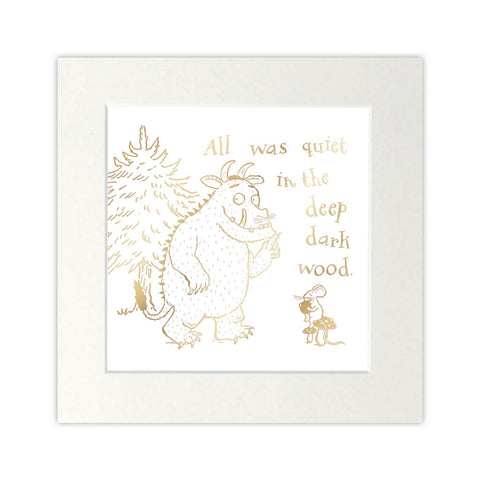 The Gruffalo Gold Foil Print