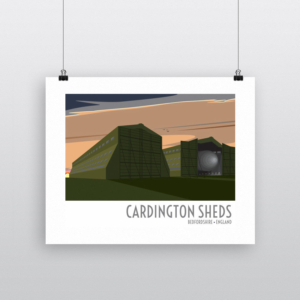 The Cardington Sheds, Bedfordshire 11x14 Print